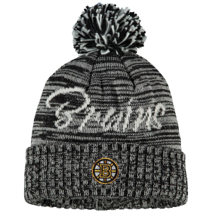 Boston Bruins nhl adidas хоккейная шапка с помпоном черная