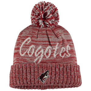 Arizona Coyotes nhl adidas хоккейная шапка с помпоном бордовая