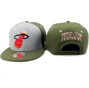 Miami Heat nba mitchell & ness snapback спортивная кепка хаки