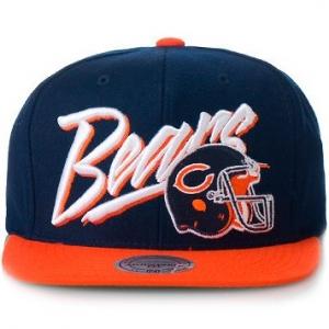 Chicago Bears nfl mitchell & ness snapback спортивная кепка темно-синяя