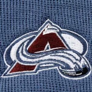 Colorado Avalanche nhl reebok хоккейная зимняя шапка с отворотом синяя