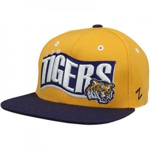LSU Tigers ncaa zephyr snapback спортивная молодежная кепка желтая