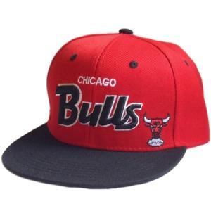 Chicago Bulls nba snapback кепка с прямым козырьком красная
