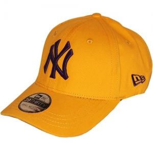 New York Yankees mlb new era flex-fit NY спортивная бейсболка желтая