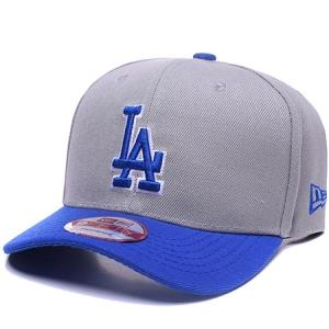 Los Angeles Dodgers mlb LA new era snapback спортивная бейсболка серая