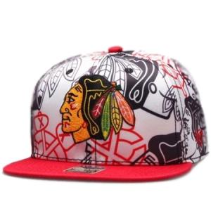 Chicago Blackhawks nhl '47 brand snapback хоккейная кепка цветная белая