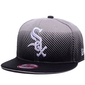 Chicago White Sox mlb new era snapback спортивная кепка черно-серая