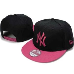 New York Yankees mlb new era NY snapback спортивная кепка черно-розовая