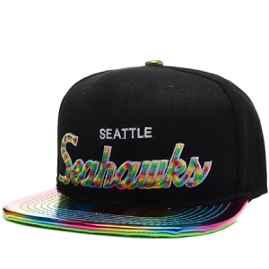 Seattle Seahawks nfl mitchell & ness snapback спортивная кепка цветная черная
