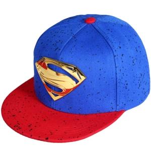 Superman snapback gold metal кепка с прямым козырьком сине-красная