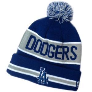 Los Angeles Dodgers mlb new era LA шапка с помпоном синяя