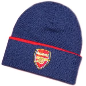 Arsenal FC футбольная спортивная шапка с отворотом темно-синяя