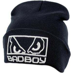 BadBoy спортивная шапка зимняя с отворотом черная