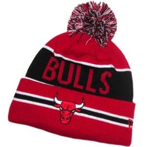 Chicago Bulls nba new era шапка с помпоном красная