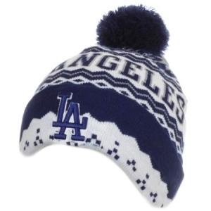 Los Angeles Dodgers mlb new era LA шапка с помпоном бело-синяя