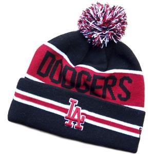 Los Angeles Dodgers mlb new era LA шапка с помпоном красно-черная