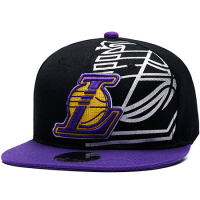 Los Angeles Lakers nba mitchell & ness кепка с прямым козырьком
