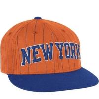 Кепка New York Knicks nba adidas originals snapback спортивная с прямым козырьком сине оранжевая