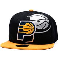 Indiana Pacers nba mitchell & ness snapback кепка спрямым козырьком черная