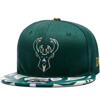 Milwaukee Bucks nba new era snapback кепка с прямым козырьком зеленая