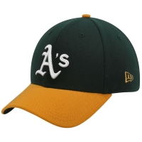 Oakland Athletics mlb new era flex classic спортивная бейсболка зеленая