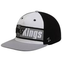 Кепка Los Angeles Kings nhl zephyr snapback хоккейная с прямым козырьком бело черная