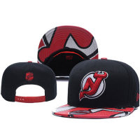 New Jersey Devils nhl new era snapback хоккейная кепка с прямым козырьком черно-красная