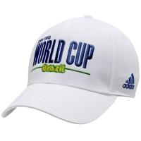 World Cup Brasil adidas flex-fit футбольная бейсболка белая