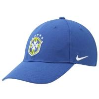 Brasil nike футбольная спортивная бейсболка синяя