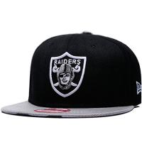 Oakland Raiders nfl new era snapback кепка с прямым козырьком черная