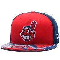 Cleveland Indians mlb new era snapback спортивная кепка с прямым козырьком