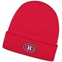 Montreal Canadiens nhl reebok хоккейная зимняя шапка с отворотом красная