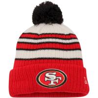 San Francisco 49ers nfl new era зимняя шапка с помпоном