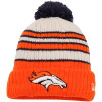 Denver Broncos nfl new era зимняя шапка с помпоном оранжевая