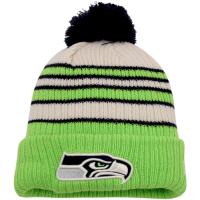 Seattle Seahawks nfl new era зимняя шапка с помпоном