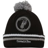 San Antonio Spurs nba mitchell & ness script зимняя шапка с помпоном