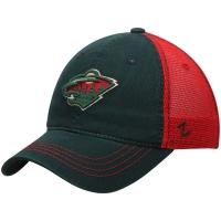 Minnesota Wild nhl zephyr хоккейная бейсболка с сеткой зеленая