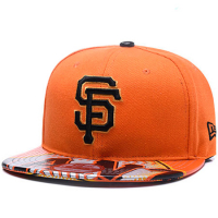 San Francisco Giants mlb new era snapback спортивная кепка с прямым козырьком оранжевая