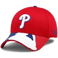 Philadelphia Phillies mlb new era flex batter спортивная бейсболка красная