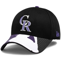 Colorado Rockies mlb new era flex batter спортивная бейсболка черная