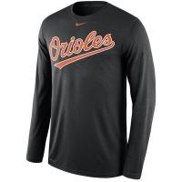 Baltimore Orioles mlb nike legend dri-fit performance бейсбольная лонгслив футболка