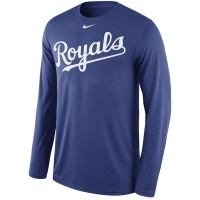 Kansas City Royals mlb nike legend dri-fit performance бейсбольная лонгслив футболка
