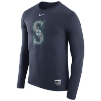 Seattle Mariners mlb nike authentic performance бейсбольная лонгслив футболка