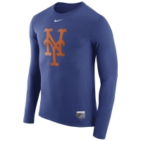 New York Mets mlb nike authentic performance бейсбольная лонгслив футболка
