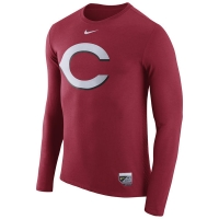 Cincinnati Reds mlb nike authentic performance бейсбольная лонгслив футболка