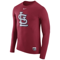 St Louis Cardinals mlb nike authentic performance бейсбольная лонгслив футболка