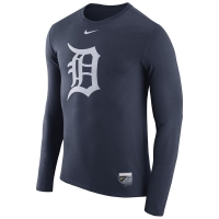 Detroit Tigers mlb nike authentic performance бейсбольная лонгслив футболка