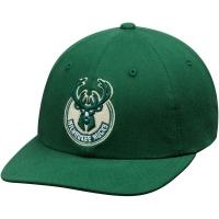 Milwaukee Bucks nba mitchell & ness flex-fit спортивная кепка зеленая