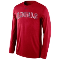 Los Angeles Angels mlb nike legend dri-fit performance бейсбольная лонгслив футболка