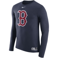 Boston Red Sox mlb nike authentic dri-fit performance бейсбольная лонгслив футболка